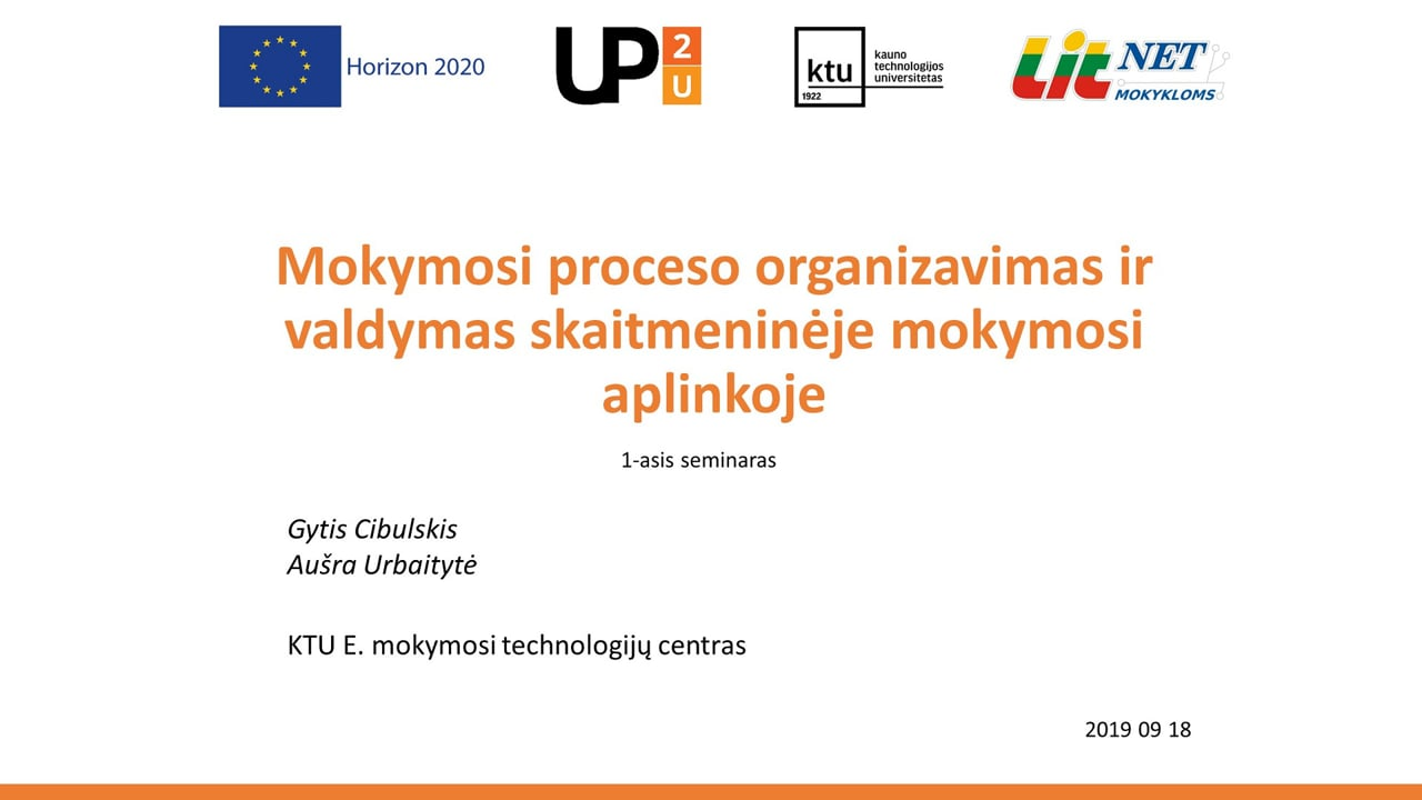 Up2U 1-asis virtualus susitikimas 2019-09-18