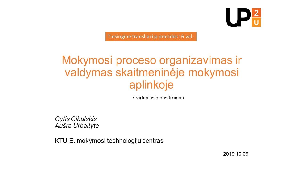 Up2U 7-asis virtualus susitikimas 2019-10-09